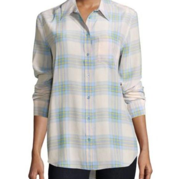 7fd5e304c82952 Equipment Femme Reese plaid silk blouse button dow
